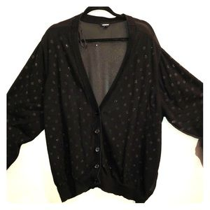 Torrid black polka dot cardigan size 5